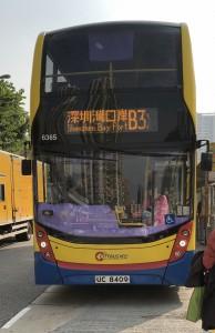 深圳湾口岸行きのバスB3x