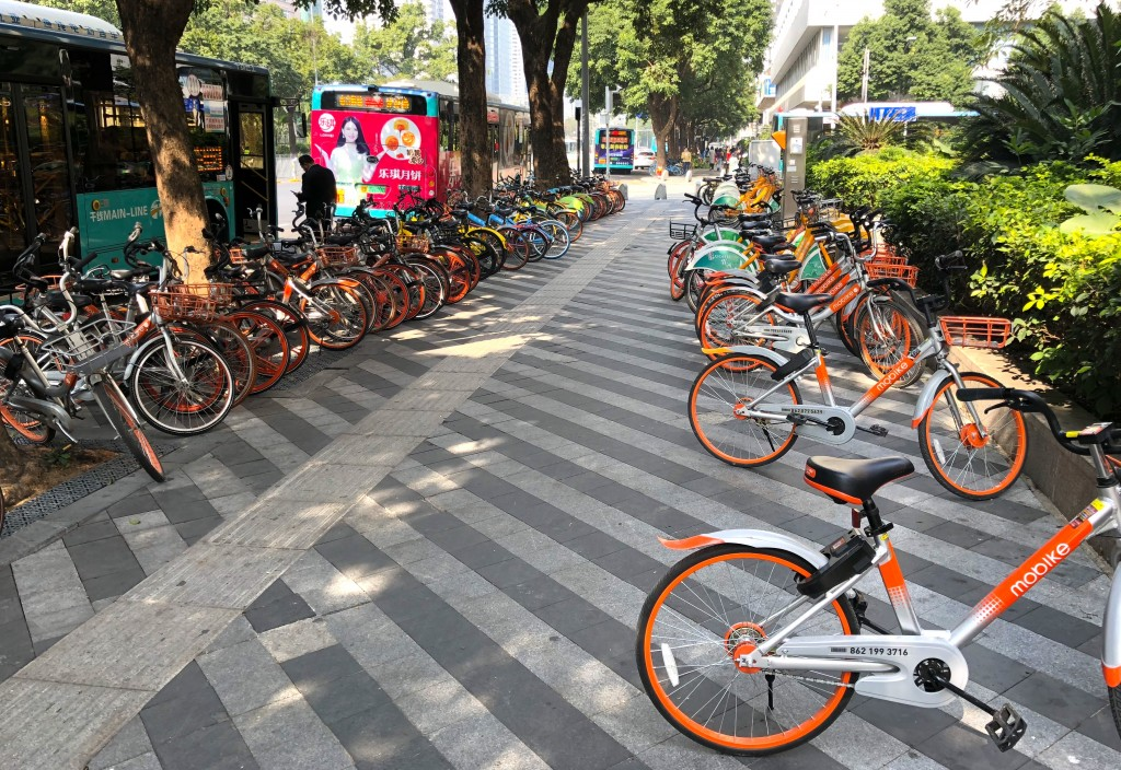 中国・深センのシェア自転車